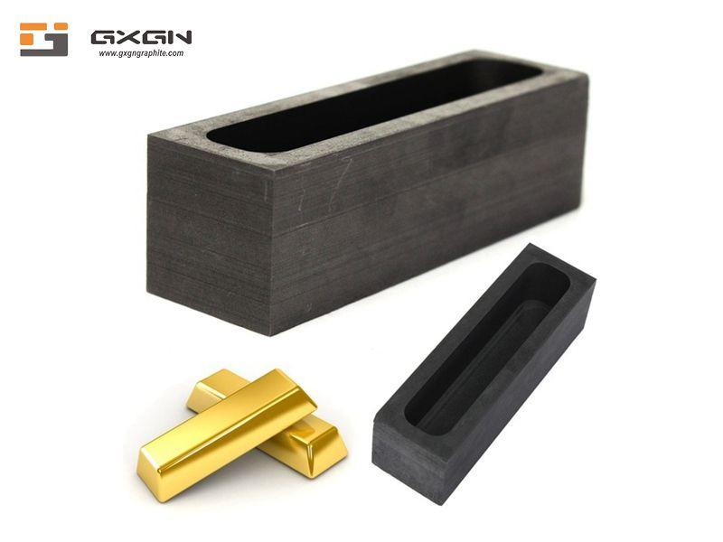 Aluminium copper silver gold ingot mold graphite die for continuous casting